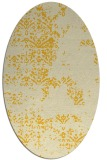 rug #1068894 | oval yellow faded rug