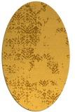 rug #1068906 | oval yellow damask rug