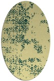 rug #1068910 | oval yellow faded rug
