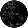 rug #1069322 | round black graphic rug