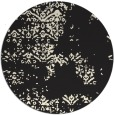 rug #1069338 | round black damask rug