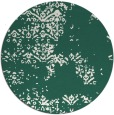 rug #1069450 | round blue-green graphic rug