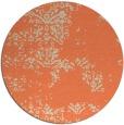 rug #1069526 | round orange damask rug