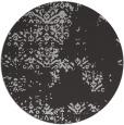 rug #1069530 | round orange damask rug