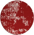 rug #1069574   round red faded rug
