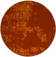 rug #1069582 | round red-orange damask rug