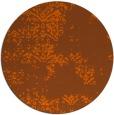rug #1069590 | round red-orange damask rug