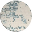 rug #1069622 | round white faded rug