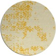 rug #1069630 | round yellow faded rug