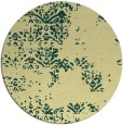 rug #1069646 | round blue-green faded rug
