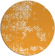rug #1069678 | round light-orange damask rug