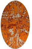 rug #1070418 | oval orange graphic rug