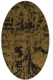 rug #1070438 | oval mid-brown rug