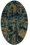 rug #1070446 | oval brown graphic rug