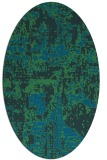 rug #1070486 | oval blue faded rug