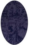 rug #1070506   oval blue-violet faded rug