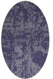 rug #1070510 | oval faded rug