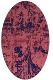 rug #1070514   oval blue-violet faded rug