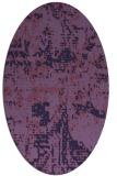 rug #1070518   oval purple faded rug