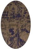 rug #1070526 | oval blue-violet graphic rug