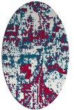 rug #1070538   oval red faded rug