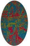 rug #1070543 | oval graphic rug