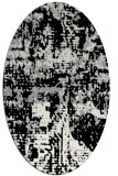 rug #1070562 | oval black graphic rug