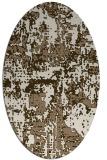 rug #1070574 | oval beige graphic rug