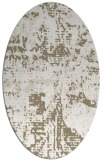rug #1070578 | oval white faded rug