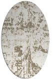 rug #1070578 | oval mid-brown faded rug