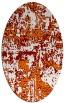 rug #1070626 | oval orange faded rug
