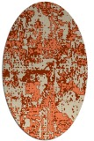 rug #1070630 | oval orange graphic rug