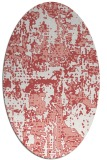rug #1070650   oval white faded rug