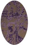 rug #1070662 | oval purple faded rug