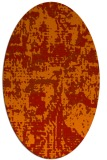 rug #1070674 | oval red graphic rug