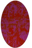 rug #1070682   oval red faded rug