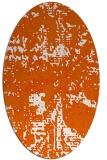 rug #1070698   oval red-orange faded rug