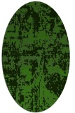 rug #1070702 | oval light-green graphic rug