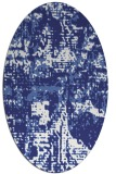 rug #1070714 | oval white graphic rug