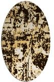 rug #1070718 | oval faded rug