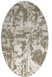 rug #1070730 | oval white faded rug