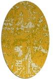 rug #1070734 | oval yellow faded rug