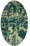 rug #1070750 | oval yellow faded rug