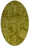 rug #1070754 | oval light-green rug