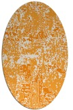 rug #1070778 | oval light-orange faded rug