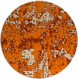 rug #1071154 | round orange graphic rug