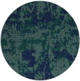 rug #1071194 | round blue faded rug
