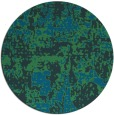 rug #1071222 | round blue faded rug