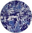 rug #1071258 | round blue-violet rug