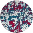 rug #1071274   round red faded rug